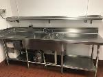 Lot: 25 - Prep Sink Counter and Disposer