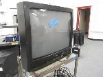 Lot: 9,10&11 - Sansui TV, Metal Cart & Fax Machine