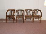 Lot: 17.HC - (4) WOOD BARREL BACK CHAIRS