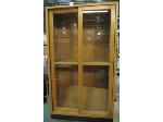 Lot: 55-001 - Wooden Display Cabinet w/ Locking Doors
