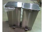 Lot: 55-003 - (2) Defender Stainless Steel Waste Cans