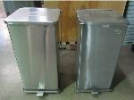 Lot: 55-005 - (2) Defender Stainless Steel Waste Cans
