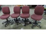 Lot: 55-010 - (4) Task Chairs w/ Foot Rail