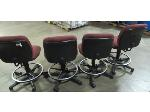 Lot: 55-012 - (4) Task Chairs w/ Foot Rail