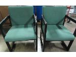 Lot: 55-016 - (2) Upholstered Chairs w/ Wood Frame