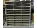 Lot: 55-027 - Metal Sorting Shelves or Mail Slots