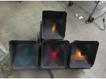 Lot: 55-029 - Lane Lights from Truck Yard - Garage Decor