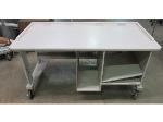 Lot: 55-041 - Rolling Adjustable Computer Desk w/ Shelves