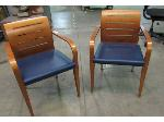 Lot: 55-057 - Pair of Wood Arm Chairs
