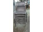 Lot: 55-069 - (8) Padded Stacking Chairs