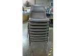 Lot: 55-070 - (9) Padded Stacking Chairs
