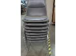 Lot: 55-071 - (8) Padded Stacking Chairs