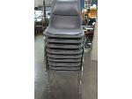 Lot: 55-072 - (9) Padded Stacking Chairs