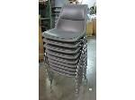 Lot: 55-073 - (9) Padded Stacking Chairs