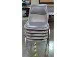 Lot: 55-074 - (5) Padded Stacking Chairs