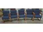 Lot: 55-075 - (5) Upholstered Waiting Room Chairs