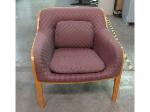 Lot: 55-076 - Wood Accent Chair