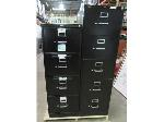 Lot: 55-080 - Pair of Black Hon Filing Cabinets