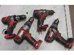Lot: 55-095 - (4) Milwaukee Cordless Drills