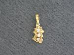 Lot: 5700 - 14K NUGGET PENDANT