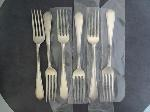 Lot: 5704 - (6) LUNT STERLING LUNCHEON FORKS