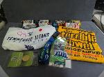 Lot: 5709 - SUPER BOWL LANYARD, TICKET, TIE TAC, STEELERS TOWEL & TOPPS SPORTS CARDS<BR><span style=color:red>No Credit Cards Accepted for this Lot! CASH OR WIRE TRANSFER ONLY!</span>