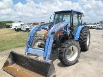 Lot: 215-EQUIP 039017 - 2003 NEW HOLAND TL90 TRACTOR & MOWER