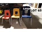 Lot: 65 - (20) Large Student Chairs