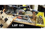 Lot: 103 - Saw, Drills, Tools & Hardware