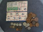 Lot: 5716 - 1866 SHIELD NICKEL, PENNIES, FOREIGN COINS & STAMPS