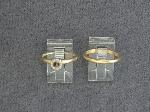 Lot: 5722 - PLATINUM/14K WEDDING SET