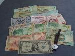 Lot: 5724 - 1957A $1 SILVER CERT., FOREIGN CURRENCY & WATCH