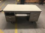 Lot: 32 - (4) Antique Metal Desks