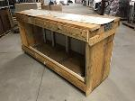 Lot: 34 - Wooden storage crate for art