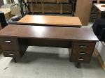 Lot: 35 - Dark Wood Desk