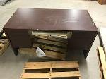 Lot: 42 - Wood Desk w/ Keyboard Drawer