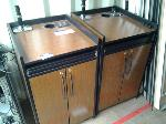 Lot: 63&95 - (2) Cabinets & (4) Tables