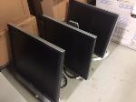 Lot: 45.PU - (3) CPUs, (3) Monitors, Printer & Keyboard