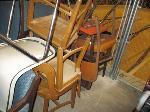 Lot: 37.SPE - (53) CHAIRS, STUDENT DESK & BOOK RACK