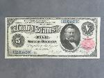 Lot: 10 - 1891 LARGE $5 SILVER CERTIFICATE