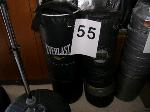 Lot: 55-59&120-122 - Boxing Punching Bags, Cases & Stands