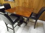 Lot: A7276 - Cherry Wood Bar Stool Table & Chairs