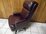 Lot: A7279 - High Back Cherry Leather Executive Chair