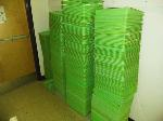 Lot: 14&15.BEA - (200) Science Trays, Clipboards, Binders & Wooden File Cabinet