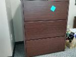 Lot: 20&21.BEA - Wooden File Cabinet & Wood Bookcase
