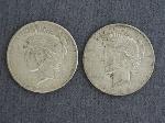 Lot: 55 - 1925-1926 PEACE DOLLARS