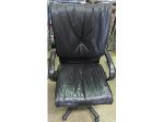 Lot: 57-009 - Leather Office Chair
