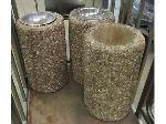 Lot: 57-040 - (3) Concrete Ashtrays