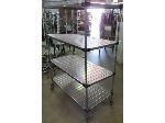 Lot: 57-050 - 4-Shelf Metro Cart