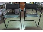Lot: 57-052 - (2) Leather Sling Chairs